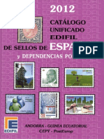 Catalogo Edifil Unificado de Sellos España Y Dependencias Postales 2012