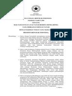 UU No 4 Tahun 1996 Ttg Hak Tanggungan Atas Tanah Beserta Benda-benda