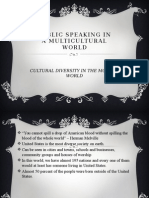 Public Speaking in a Multicultural World