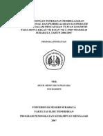 Per Banding An Penerapan Pembelajaran Konvensional Dan Pembelajaran Kooperatif Tipe Stad Dalam Penc