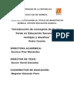 Tesis - Introducción de Conceptos de Química Verde en Educación Secundaria