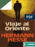 Viaje Al Oriente - Hermann Hesse