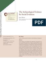 1 Marcus 2008 the Archaeological Evidence for Social Evo