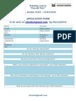 SERBIA EuroACTive Application Form