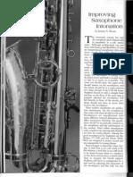 Improving Saxophone Intonation