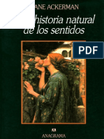 Una Historia Natural de Los Sentidos-diane-Ackerman
