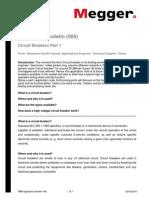 Megger- Boletín #1 sobre interruptores de potencia- Funcionamiento-Tipos