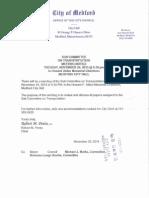 Medford City Council Transportation Subcommittee meeting November 24, 2015