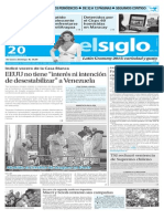 Edición Impresa El Siglo 20-11-2015