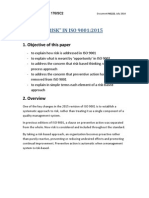 ISO 9001 and Risk Base Thinking