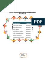 Lista Oficial Congresales Escuela y Programas