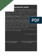 Declaraciones Juradas Faustino