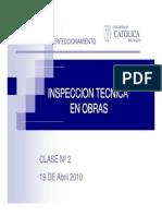 clase 2 Inspección técnica de obra