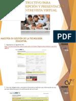 Instructivo Del Proceso de Inscripción y Presentación de La Entrevista Virtual (14) (6)