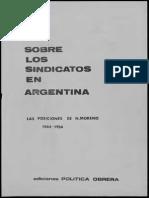Política Obrera, Sobre Los Sindicatos en Argentina. Las Posiciones de N. Moreno 1944-1954 (Marzo 1979)