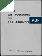 Política Obrera, Sobre Las Posiciones Del P.S.T. Argentino (1979)