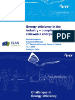 Energy Efficiency in the industry - Complement for Renewable Energies - Maria Holopainen VTT