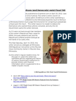 Minnesota Republicans (and Democrats) Resist Fiscal TAR 4/20/2012 originally published Examiner.Com But Censored 11/06/2015