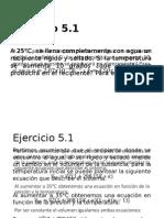 Ejercicios Capitulo 5 y Capitulo 10. Fisicoquimica