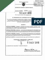Decreto 2192 Del 11 de Noviembre de 2015