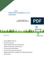 Eficiencia energética en la industria - Rodrigo Balderrama