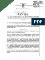 Decreto 2215 Del 18 de Noviembre de 2015