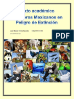 Texto Académico Mamiferos en peligro de extinción