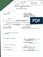 William Snody Criminal Complaint