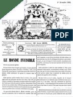 Le Magicien, journal des sciences occultes, physiologiques, philosophiques et magnétiques N°9