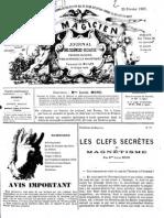 Le Magicien, journal des sciences occultes, physiologiques, philosophiques et magnétiques N°89