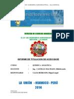Informe de Titulaion Acido Base Quimica Analitica