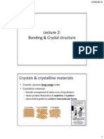 Lecture 2 Bonding and Crystal Structure