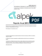 Alpek Reporte Anual 2013