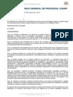 COGEP, Codigo Organico General de Procesos
