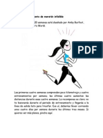 Plan de Entrenamiento de Maratón Infalible