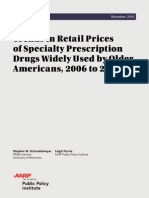 Price Watch Trends in Retail Prices of Specialty Prescription Drugs 2006 to 2013 Nov