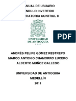 Manual de Usuario Péndulo Invertido Control II