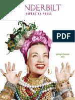 Vanderbilt University Press Spring/Summer 2016 Catalog