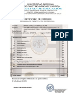 Certificado de Diplomado Ultimo