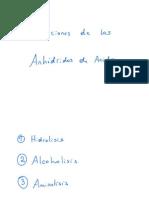Reacciones de Anhidridos de Acidos