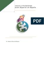 España - Estructura y titulaciones Educación Superior