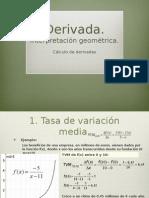 Tema 5_derivada_interpretación geométrica