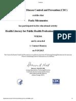 cdc healthliteracyforpublichealthprofessionals