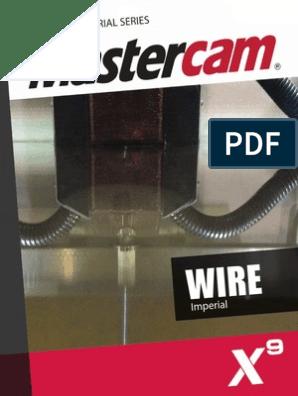 SAMPLE Mastercam X9 Wire Training Tutorial | Keyboard