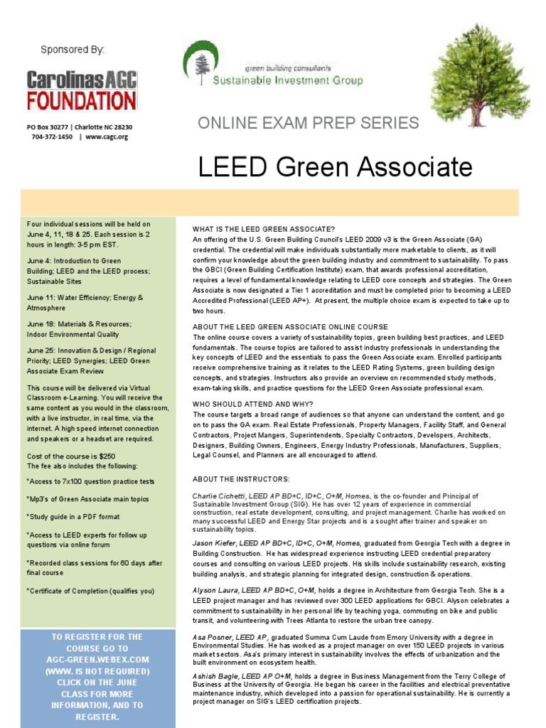 Leed Green Associate Cagc Leadership In Energy And Environmental