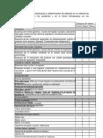 Formato de Inspeccion de Defectos en Los Mx