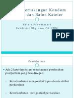 Tehnik Pemasangan Kondom Kateter Dan Balon Kateter