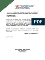 Certificados de Honorabilidad