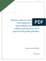 Informe sobre los vínculos de la Universidad de Chile con Universidades israelíes