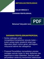 Nota Kuliah 3 - Proposal Tajuk PK
